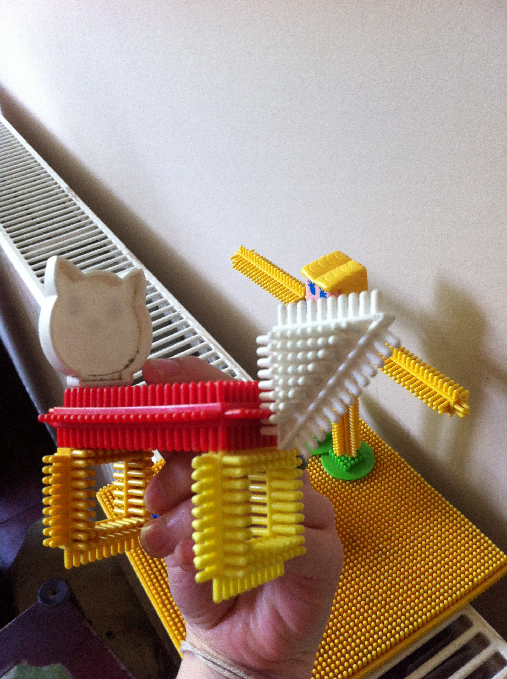 vintage stickle bricks in the homeopath's office
